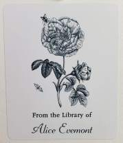 "PERSONALIZED Bookplate with ROSE/Flower Illustration. Set of 10. 3"" H x 2 1/2"""
