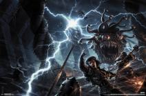 "Trends International Dungeons and Dragons - Battle, 22.375"" x 34"", Premium Unframed"