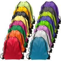 Drawsting-Bag-Bulk-48 Pieces Cinch Drawstring Bag Gym Drawstring Backpacks 16 Colors