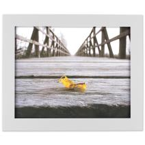 """DII White Wall Picture Frame 8x10"""" with Protective Glass Covering - For Wall or Desk Display"""