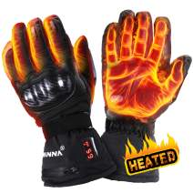 winna Heated Gloves for Women and Men, Battery Powered Electric Heated Motorcycle Gloves, Skiing,Hiking, Windproof, Touchscreen Enabled