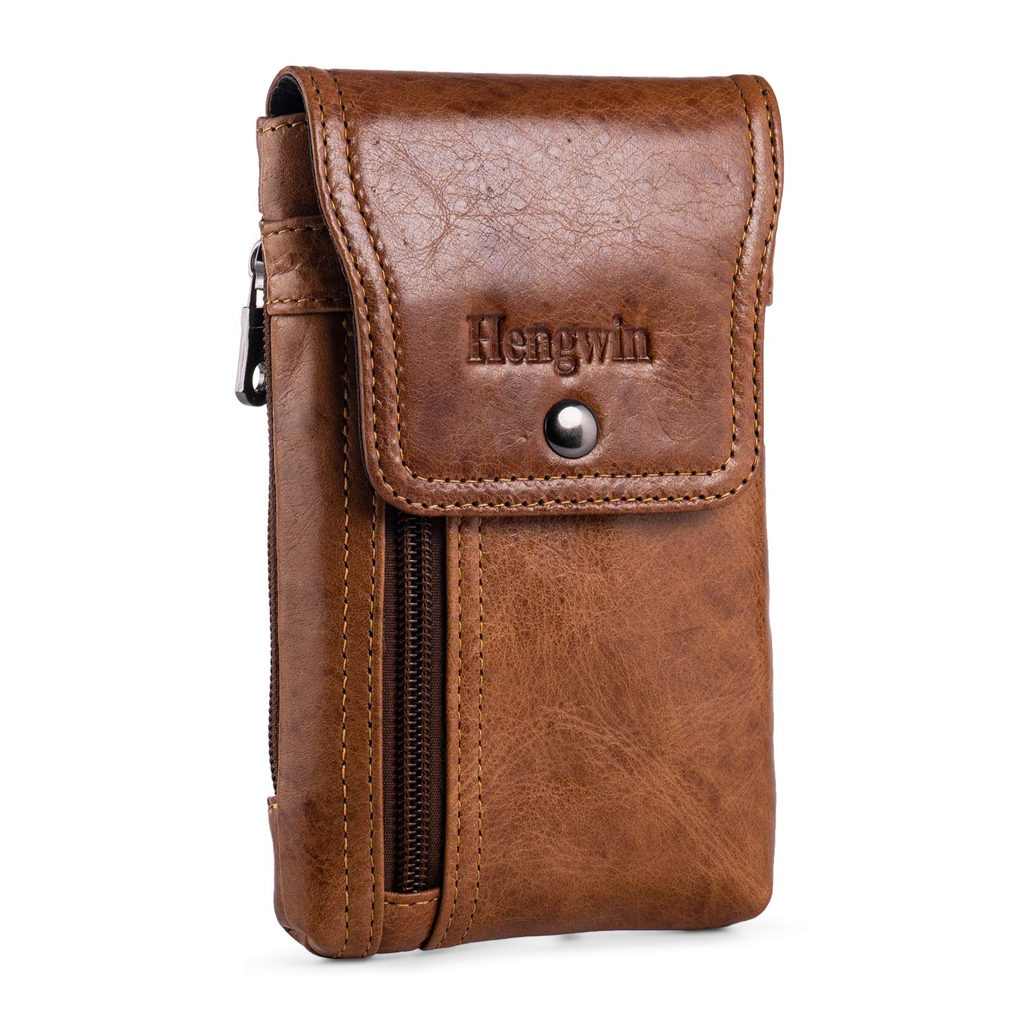 Hengwin Iphone 11 Pro Max Holster Case With Belt Clip Genuine Leather Belt Pouch Iphone Xs Max Xr Belt Case Phone Belt Holder For Iphone 7 Plus 8 Plus 6s Plus Fits