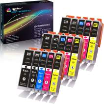 Arthur Imaging 15 Pack Compatible Ink Cartridge Replacement for 270XL 271XL (3 Large Black, 3 Small Black, 3 Cyan, 3 Yellow, 3 Magenta, 15-Pack)