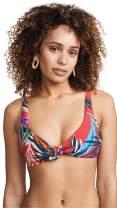 Red Carter Women's Bow Front Triangle Bikini Top