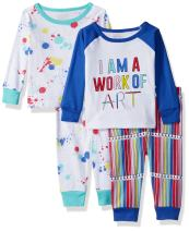The Children's Place Baby Girls' Spring to Summer 4-Piece Pajama Set