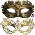 Couple's Masquerade Masks for Him and Her Venetian Wedding Roman Greek God Mask Halloween Costume Cosplay Prom Party Mask