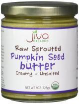 Jiva Organics RAW SPROUTED Organic Pumpkin Seed Butter 8-Ounce Jar
