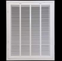 """22"""" X 32"""" Steel Return Air Filter Grille for 1"""" Filter - Easy Plastic Tabs for Removable Face/Door - HVAC Duct Cover - Flat Stamped Face -White [Outer Dimensions: 23.75w X 33.75h]"""