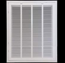 """22"""" X 36"""" Steel Return Air Filter Grille for 1"""" Filter - Removable Face/Door - HVAC Duct Cover - Flat Stamped Face -White [Outer Dimensions: 23.75w X 37.75h]"""