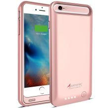 Alpatronix iPhone 6S Plus/6 Plus Battery Case, 4000mAh MFi Certified Slim Portable Protective Extended Charger Cover Compatible with iPhone 6S Plus & iPhone 6 Plus (5.5 inch) BX140plus - (Rose Gold)