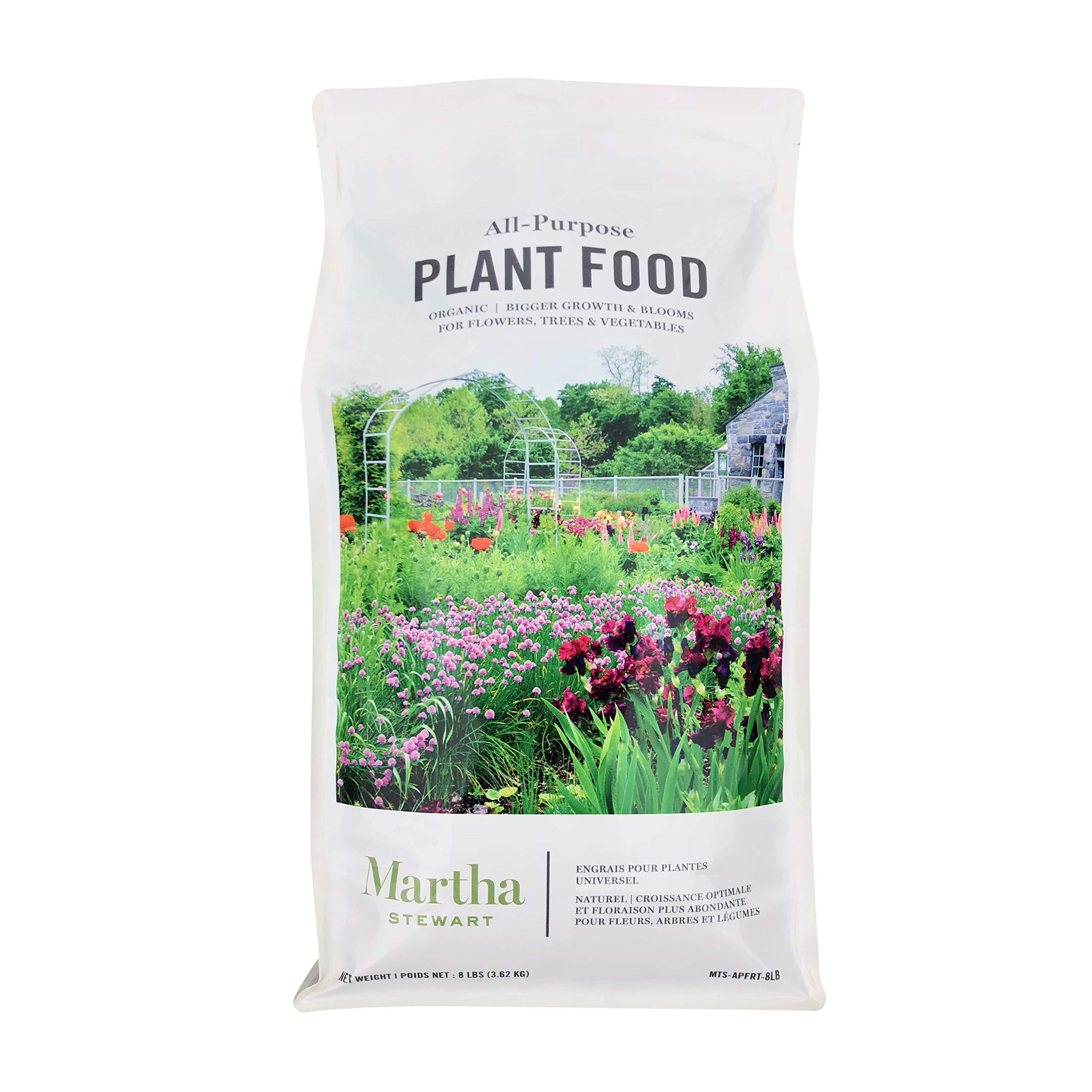 Martha Stewart MTS-APFRT-8LB All Purpose Plant Food for Flowers, Shrubs, & Vegetables,Brown