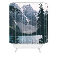 "Society6 Hannah Kemp Moraine Lake Shower Curtain, 72""x69"", Blue"