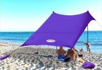 UMARDOO Family Beach Tent with 4 Sand Anchors,Sun Shelter with 2 Aluminum Poles & Carring Bag,UPF 50+