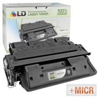 LD Remanufactured MICR Toner Cartridge Replacement for HP 61X C8061X (Black)