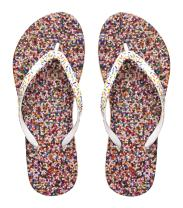 Showaflops Womens' Antimicrobial Shower & Water Sandals for Pool, Beach, Dorm and Gym - Sweet Treats Collection