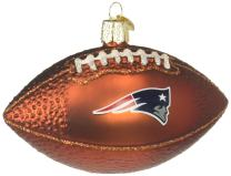 Old World Christmas New England Patriots Glass Blown Ornaments for Christmas Tree Football