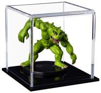 """Better Display Cases Versatile Acrylic Display Case, Cube, Dust Cover or Riser with Black Base 3"""" x 3"""" x 3"""" (A046-CDS)"""