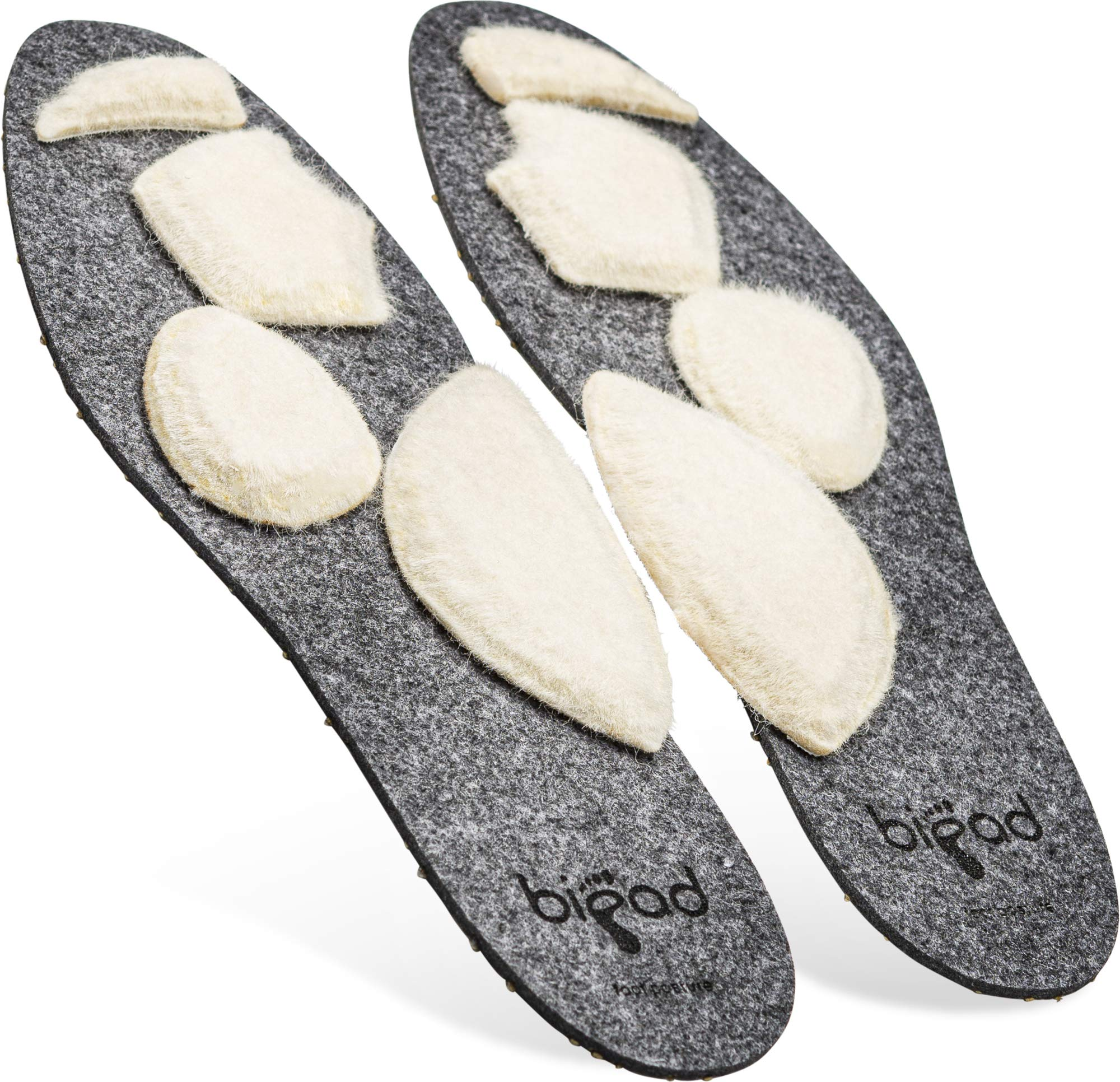 Bipad Plantar Fasciitis Orthotic Insoles for Men and Women – Shoe Inserts with Removable and Customizable Pads for Arch Support, Bones, Ligaments, and Tendons – Unisex Athletic Cushion Inserts