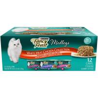 Purina Fancy Feast Wet Cat Food Variety Pack, Medleys Shredded Fare Collection - (2 Packs of 12) 3 oz. Cans