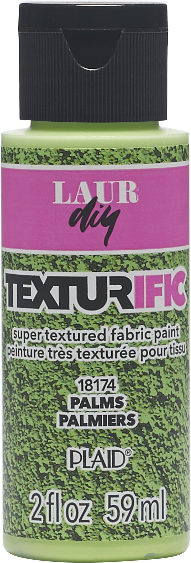 LaurDIY Texturific Fabric Paint, 2 oz, Palms
