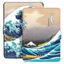 Ayotu Colorful Case for Kindle Paperwhite Auto Wake/Sleep Smart Protective Cover - Fits All Paperwhite Generations Prior to 2018(Not Fit All-New Paperwhite 10th Gen) K5-04 The Surfing in Kanagawa