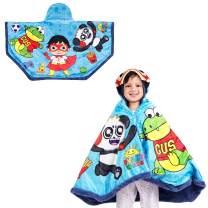 "Franco Kids Bedding Super Soft and Cozy Snuggle Wrap Hoodie Blanket, 55"" x 31"", Ryan's World"