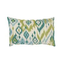 Pillow Perfect Gunnison Rectangular Throw Pillow, Grasshopper,Green/Blue/Off-White