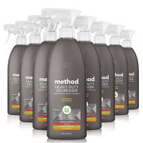 Method Heavy Duty Degreaser, Oven Cleaner and Stove Top Cleaner, Lemongrass, 28 Ounce, 8 pack, Packaging May Vary