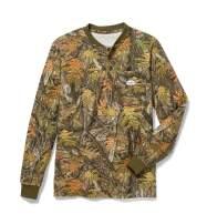 Rasco FR Men's Woodland Camo Henley T-Shirt