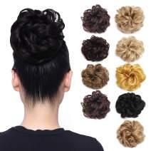 Ryalan Synthetic Hair Bun Extensions Hair Piece Messy Hair Scrunchies for Women Hair Donut Updo Ponytail Hairpiece (Dark Blonde 18/613#)