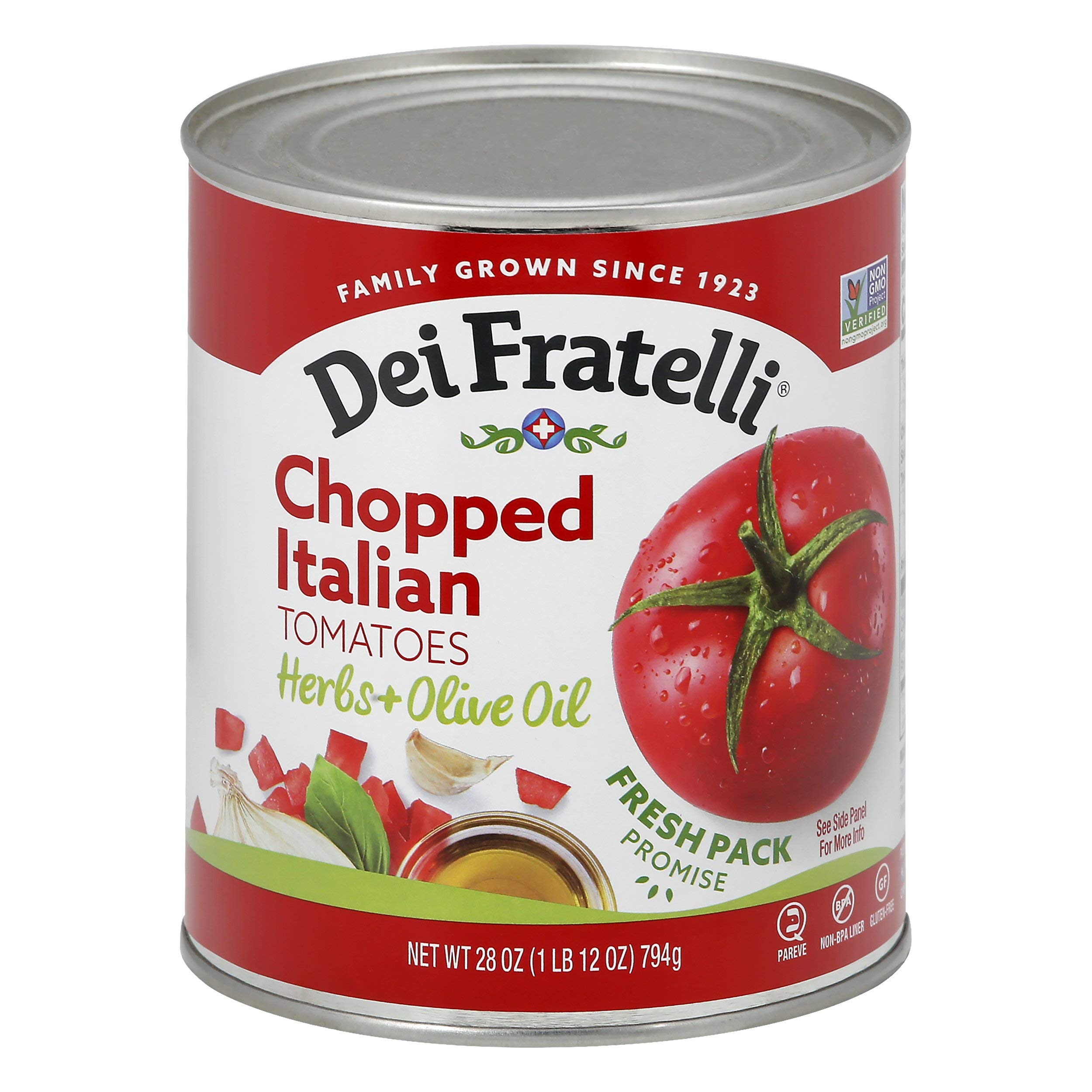 Dei Fratelli Chopped Italian Tomatoes - All Natural - 5th Generation Recipe (28 oz. cans; 6 pack)