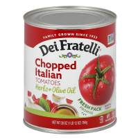 Dei Fratelli Chopped Italian Tomatoes - All Natural - 5th Generation Recipe (28 oz. cans; 12 pack)