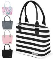 Simple Modern 4L Cara Lena Lunch Bag for Women - Insulated Lunch Box Stripes: Tuxedo