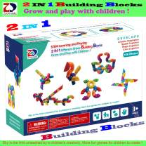 ZP ZaoProteks 2 in 1 Building Blocks ,STEM Toys, Educational Building Toys Grow and Play with Boys and Girls (Curved+Sideling)
