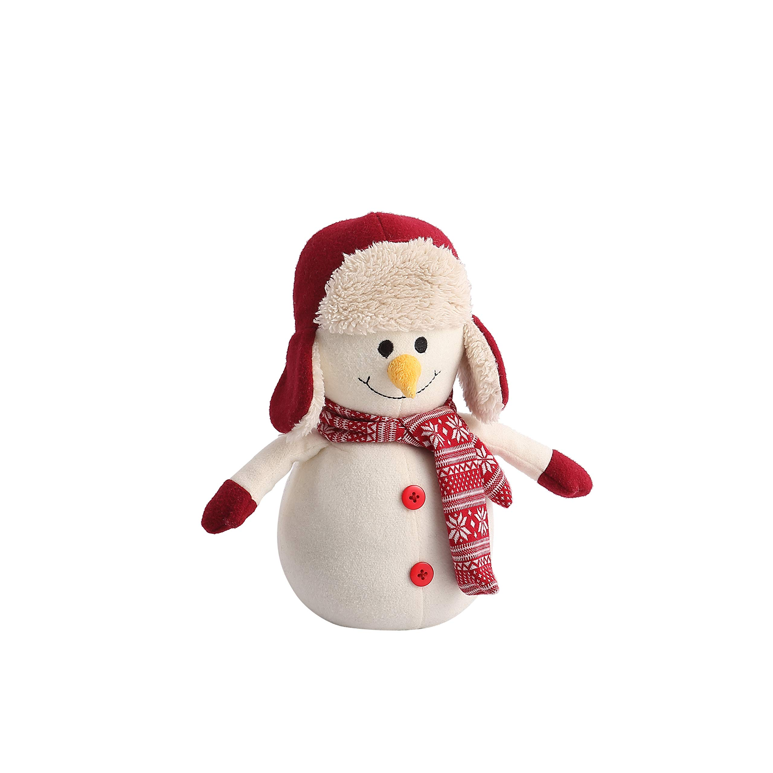 Decorative Door Stopper by Morgan Home – Available in Many Adorable Animals and Styles – Durable, Subtle Home Decor Measures Approx. 11 x 5.5 x 5.5 in Perfect Christmas Gift (White Snowman)