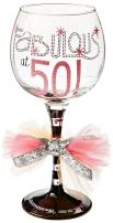 Mud Pie Fabulous at 50 Wine Glass , Multicolor - 119092