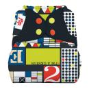 Limited Edition: Flip Hybrid Reusable Cloth Diaper Cover with Adjustable Snaps and Stretchy Tabs - Fits Babies from 8 to 35+ Pounds (Mid-Century)