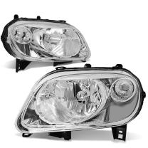 DNA Motoring HL-OH-007-CH-CL1 Chrome Housing Headlights Replacement For 06-11 HHR
