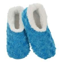 Snoozies Womens Slipper Socks - Roses in Bloom - Cozy Slippers for Women - Fuzzy House Slippers for Indoor Use - Soft Sole Slippers - Roses in Bloom