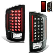 SPPC Black LED Tail Lights Assembly Set For Dodge Ram - (Pair) Driver Left and Passenger Right Side Replacement