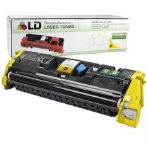 LD Remanufactured Toner Cartridge Replacement for HP 121A C9702A (Yellow)