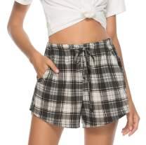Vlazom Women's Pajama Bottoms Sleeping Shorts Soft Lounge Casual Pants for Yoga Gym Running
