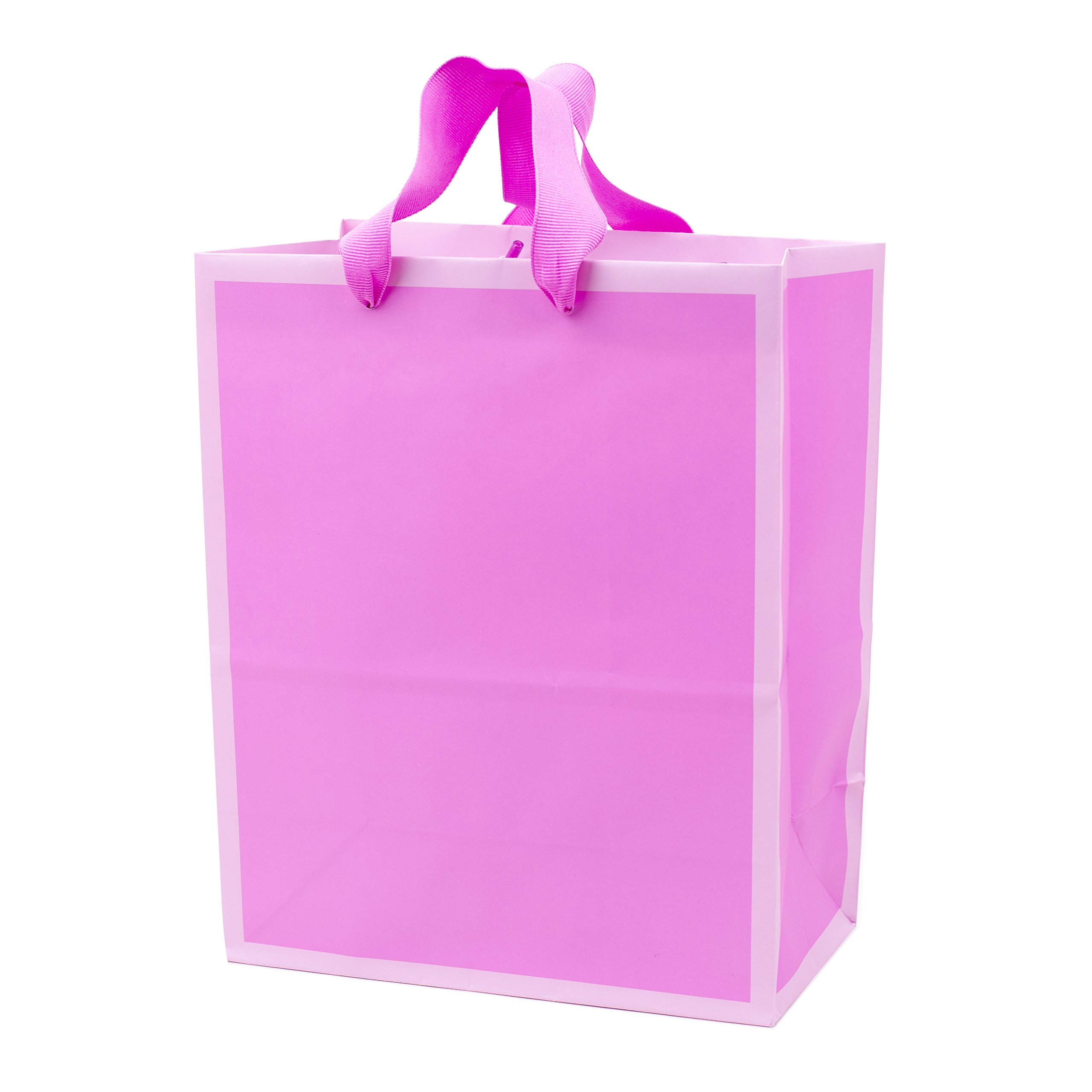 """Hallmark 9"""" Medium Gift Bag (Pink-on-Pink Duotone) for Birthdays, Baby Showers, Bridal Showers, Valentines Day, Sweetest Day or Any Occasion"""