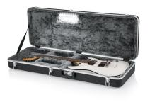 Gator Cases Deluxe ABS Molded Case for Strat/Tele Style Electric Guitar with Internal LED Lighting (GC-ELECTRIC-LED)