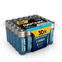 Rayovac AA Batteries, Alkaline Double A Batteries (30 Battery Count)