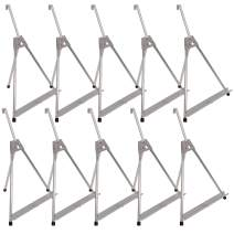 """U.S. Art Supply 15"""" to 21"""" High Adjustable Aluminum Tabletop Display Easel (Pack of 10) - Collapsible Folding Frame, Portable Artist Tripod Stand - Holds Canvas, Framed Paintings Photos, Books, Signs"""