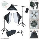 Linco Lincostore LED Continuous Photography Video Studio 3 Softbox Boom Stand Digital Video Hair Lighting AM171 w/ 12pcs LED Light Bulb