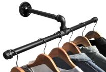 DIY CARTEL Industrial Pipe Wall Mount Clothing & Garment Rack - Hardware ONLY - Perfect for Retail Display, Organizing, Laundry (22.5 - Inch)