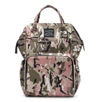 SoHo Metropolitan Diaper Backpack Bag 4pc, Pink Camo