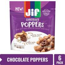 Jif Poppers Peanut Butter-Coated Popcorn and Chocolate Flavored Covered Pretzels, 6-Ounce Bag, 6 Count